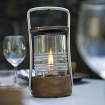 Lampada portatile / moderna / in vetro / in metallo