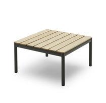 Tavolino basso moderno / in teak / in alluminio / quadrato