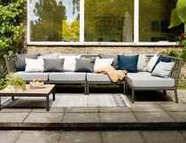 Divano modulare / moderno / da giardino / in alluminio