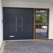 Porta d'ingresso / battente / in legno / di sicurezza