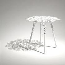 Tavolo d'appoggio / design originale / in acciaio / rotondo