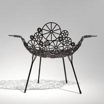 Poltrona design originale / in acciaio / da giardino