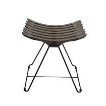 Sgabello moderno / in legno / in acciaio / a slitta