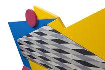 Divano design originale / da esterno / in legno / in polietilene