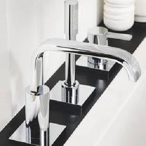 Miscelatore per vasca / in metallo cromato / da bagno / 3 fori