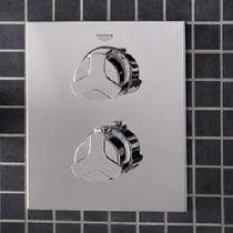 Miscelatore da doccia / da parete / in metallo cromato / termostatico