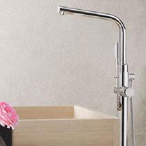 Miscelatore per vasca / in metallo cromato / da bagno / 1 foro