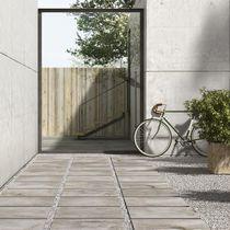 Piastrella da esterno / da pavimento / in gres porcellanato / anticata