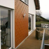 Rivestimento di facciata perforato / in HPL / in pannelli / decorativo