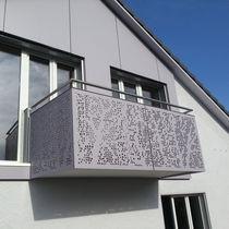 Ringhiera in fibra di legno / a pannelli / da esterno / per scala