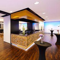 Pannello decorativo in legno compensato / per interni / perforato