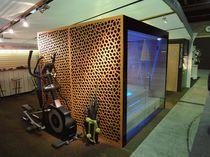 Rivestimento di facciata in fibra di legno / perforato / in pannelli / decorativo