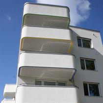 Pannello acustico per soffitto / in fibra di legno / perforato / per edifici pubblici