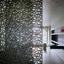 Pannello decorativo in fibra di legno / per parete / perforato / aspetto metallo