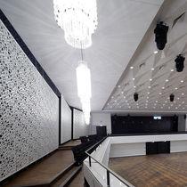 Pannello acustico per muro interno / in MDF / perforato / design