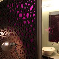 Pannello decorativo in fibra di legno / per parete / retroilluminato / perforato