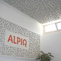 Pannello acustico a muro / in fibra di legno / perforato / decorativo