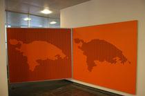 Pannello acustico per parete / a muro / in MDF / decorativo