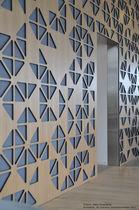 Pannello acustico per parete / in compensato / decorativo / professionale
