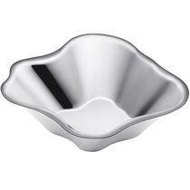Coppa in acciaio inossidabile lucido / di Alvar Aalto