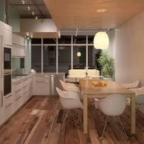 Pannello decorativo in teak / in legno massiccio / per interni / da parete