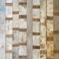 Pannello decorativo in teak / da parete / patinato / anticato