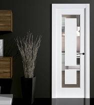 Porta da interni / battente / in vetro / semivetrata