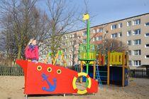 Gioco per parchi in HPL / in legno / per parco giochi