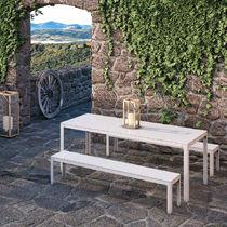 Panca da giardino / moderna / in acciaio / in alluminio