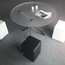 Tavolo moderno / in vetro temprato / in alluminio / in acciaio galvanizzato