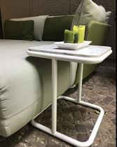 Tavolo d'appoggio moderno / in alluminio / in marmo / quadrato