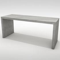 Tavolo da pranzo moderno / in calcestruzzo / rettangolare / da giardino