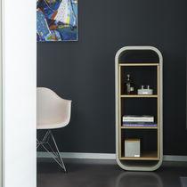 Scaffale moderno / in quercia / in legno massiccio / in calcestruzzo