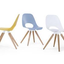 Sedia visitatore moderna / in legno / in metallo
