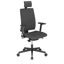 Poltrona da ufficio moderna / in tessuto / altezza regolabile / con braccioli