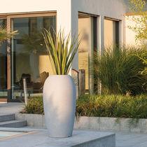 Vaso da giardino in polietilene rotostampato / rotondo / luminoso