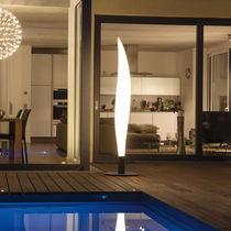 Colonna luminosa moderna / in metallo / in polietilene / LED