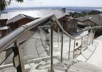 Ringhiera in alluminio / in vetro / a sbarre / da esterno