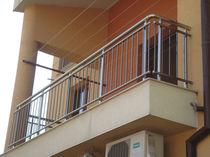 Balcone in vetro / a sbarre / in alluminio