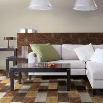 Piastrella per pavimento / in ceramica / a tinta unita / lucida