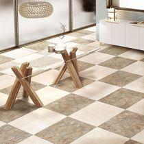 Piastrella per pavimento / in ceramica / a motivi / liscia