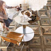 Piastrella a effetto legno / per pavimento / in ceramica / motivi geometrici