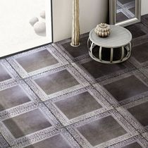 Piastrella per pavimento / in ceramica / a motivi / lucidata