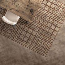 Piastrella per pavimento / in ceramica / a tinta unita / motivi geometrici