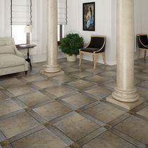 Piastrella per pavimento / in ceramica / a tinta unita / lucidata