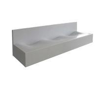 Lavabo multiplo / da appoggio / rettangolare / in Corian®