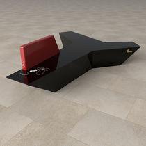 Divanetto imbottito modulare / moderno / in Corian® / per edifici pubblici