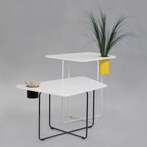 Tavolo moderno / in Corian® / in acciaio / per edifici pubblici