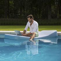 Chaise longue moderna / Sunbrella® / da giardino / per uso residenziale