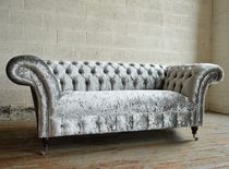 Divano chesterfield / in velluto / 2 posti / 3 posti